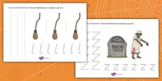 Halloween Pencil Control Activity Sheet
