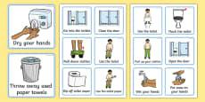 Visual Timetable (Using The Toilet - Boys)