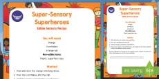 Super Sensory Superheroes Edible Sensory Recipe