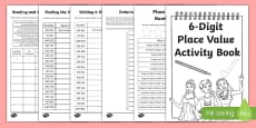 Back to School Place Value Revision of 6-Digit Numbers Activity Booklet