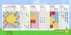 Summer Mosaic Images Activity Sheets English/French
