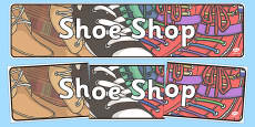 Shoe Shop Role Play Display Banner