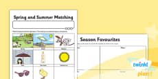 PlanIt - Science Year 1 - Seasonal Changes (Spring and Summer) Home Learning Tasks