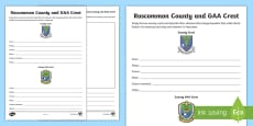 Roscommon County and GAA Crest Activity Sheet