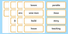 The Two Builders Word Cards
