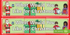 What Would You like for Christmas? Banner