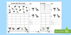 Bar Graphs with Birds Differentiated Activity Sheet
