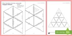 Moles Calculations Tarsia Triangular Dominoes