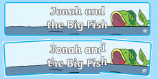Jonah and the Big Fish Display Banner