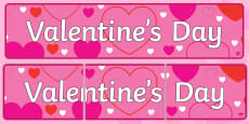 Valentine's Day Display Banner