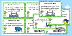 EYFS Superhero Themed Construction Area Challenge Cards