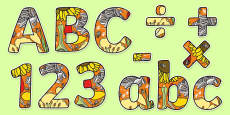 Plants Themed Display Letters and Numbers Pack