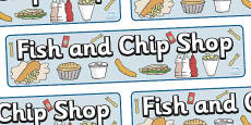 Fish And Chip Shop Role Play Display Banner