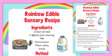 Rainbow Edible Sensory Recipe