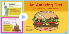 An Amazing Fact a Day December PowerPoint