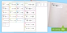 * NEW * Missing Number Themed Maths Sticky Avery Labels