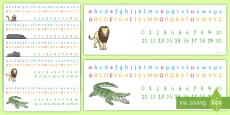 Animal Themed Number and Alphabet Strips