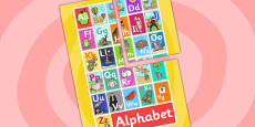 Alphabet Display A2 Poster