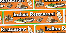 Indian Restaurant Role Play Display Banner