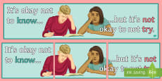 * NEW * It's Okay Not to Know... Display Banner