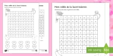 Valentine's Day Lower Ability Differentiated Word Search