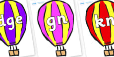 Silent Letters on Hot Air Balloons (Multicolour)