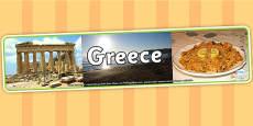 Greece Photo Display Banner
