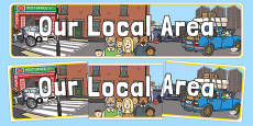 Our Local Area Urban Themed Display Banner