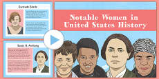 Notable Women in United States History