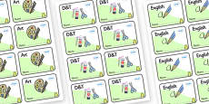 Frog Themed Editable Book Labels