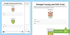 Donegal County and GAA Crest Activity Sheet