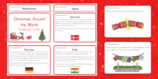 Christmas Around the World Information and Question Cards