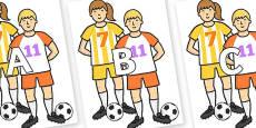 A-Z Alphabet on Players