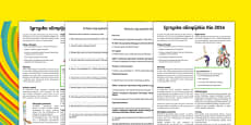 KS2 Rio 2016 Olympic Games Differentiated Reading Comprehension Activity Polish