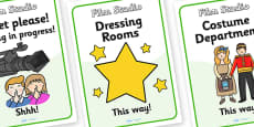 Film Studio Role Play Signs