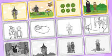 Rapunzel Story Sequencing (Speech Bubbles - 4 per A4)
