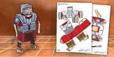 Ancient Rome Paper Model Soldier