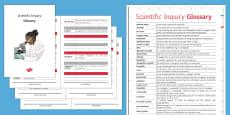 Scientific Inquiry Glossary
