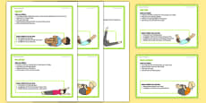 Foundation PE (Reception) - Types of Rolls Teacher Support Cards