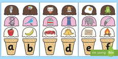 Ice Cream Alphabet Matching Activity
