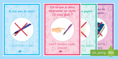 French Target Language Display Posters