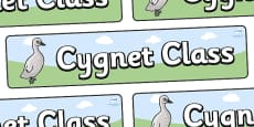 Cygnet Themed Classroom Display Banner