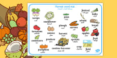 Harvest Word Mat Arabic Translation