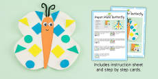 Paper Plate Butterfly Craft Instructions