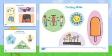 Summer Themed Cutting Skills Activity Sheets