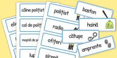 Poliția - Cartonașe pentru joc de rol