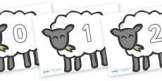 Numbers 0-100 on Sheep