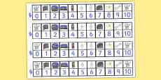 Number Track 1 to 10 to Support Teaching on Funnybones
