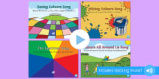 Colour Songs and Rhymes PowerPoints Pack