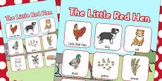 The Little Red Hen Vocabulary Poster